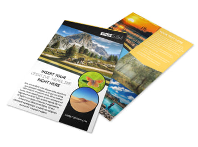 Nature Photography Flyer Template preview