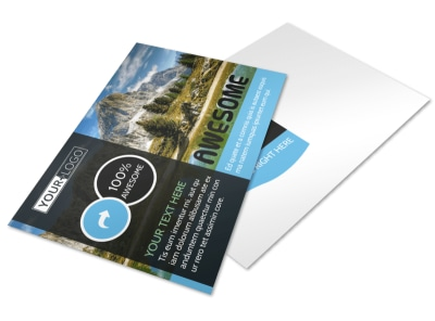 Nature Photography Postcard Template preview