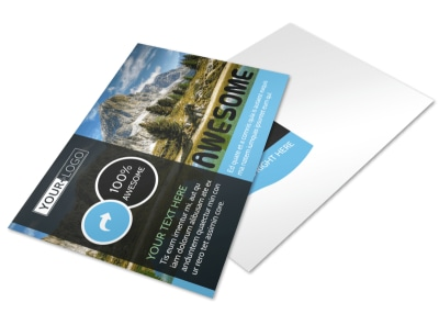 Nature Photography Postcard Template