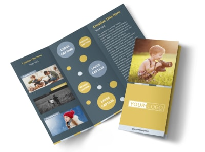 Kid Photography Tri-Fold Brochure Template preview