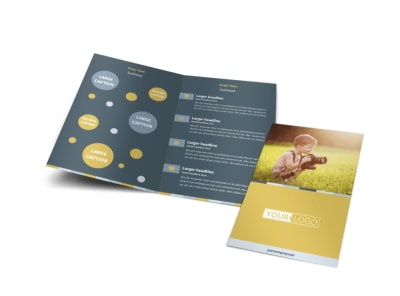 Kid Photography Bi-Fold Brochure Template preview