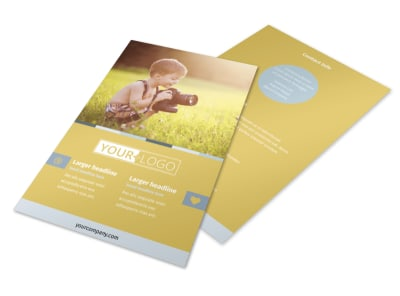 Kid Photography Flyer Template preview