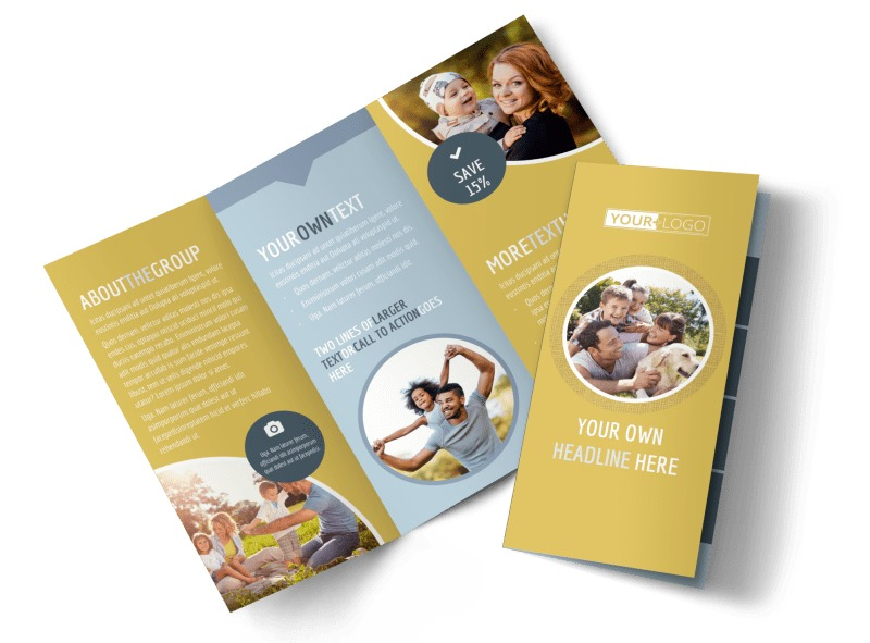 Fun Family Photography Tri-Fold Brochure Template