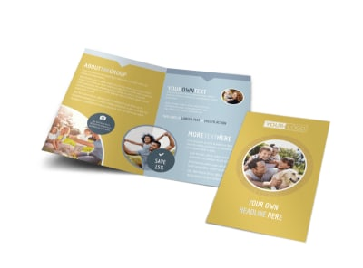 Fun Family Photography Bi-Fold Brochure Template