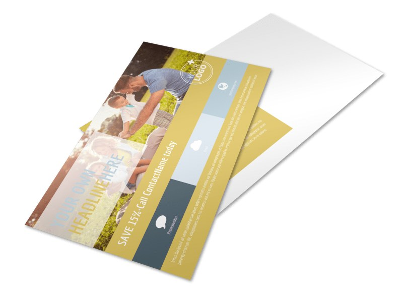 Fun Family Photography Postcard Template