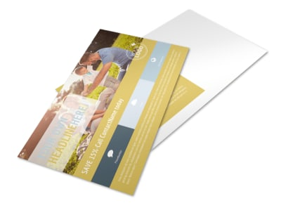 Fun Family Photography Postcard Template preview