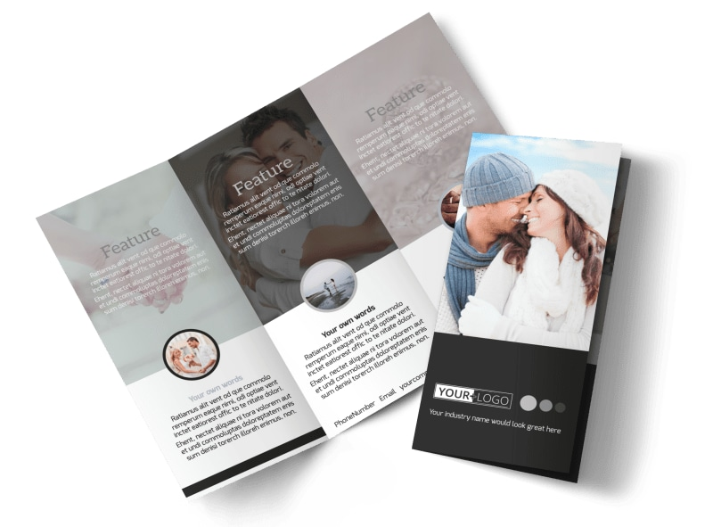 Engagement Photography Tri-Fold Brochure Template