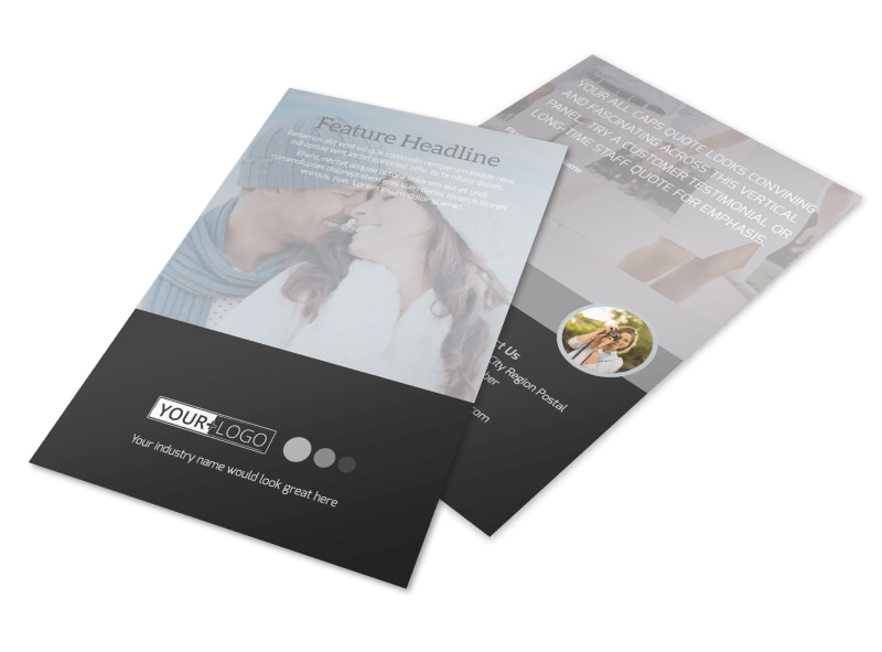 Engagement Photography Flyer Template