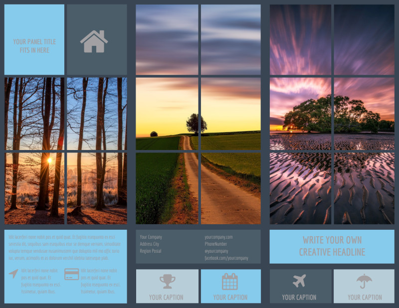 Beautiful Landscape Photography Brochure Template Preview 2