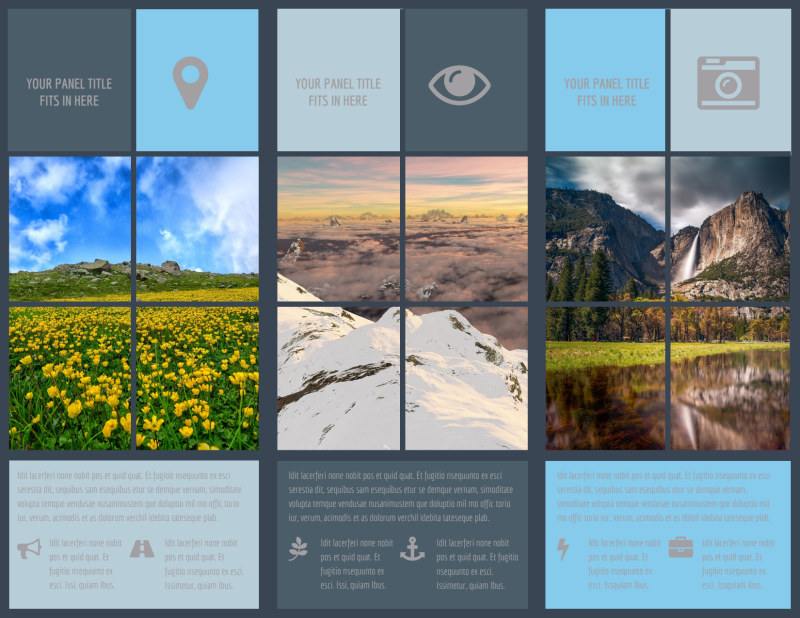 Beautiful Landscape Photography Brochure Template Preview 3