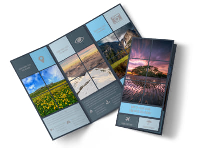 Beautiful Landscape Photography Tri-Fold Brochure Template preview