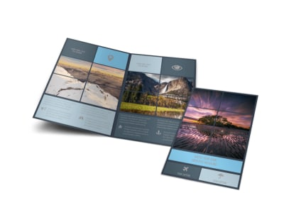 Beautiful Landscape Photography Bi-Fold Brochure Template