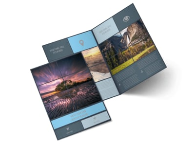 Beautiful Landscape Photography Bi-Fold Brochure Template preview