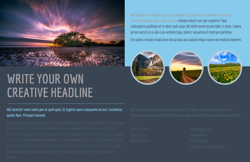 Beautiful Landscape Photography Postcard Template Preview 2
