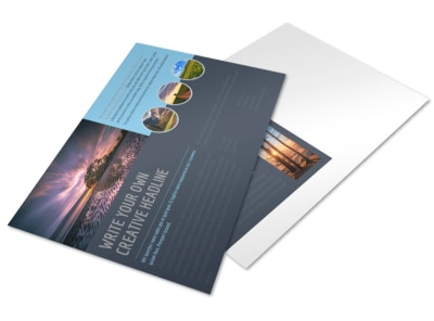 Beautiful Landscape Photography Postcard Template preview