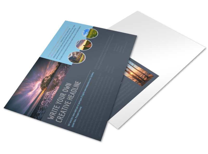 Beautiful Landscape Photography Postcard Template Preview 1
