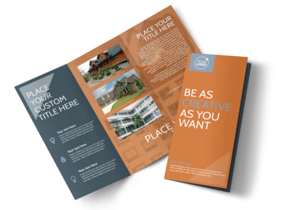 Rental Property Management Tri-Fold Brochure Template preview