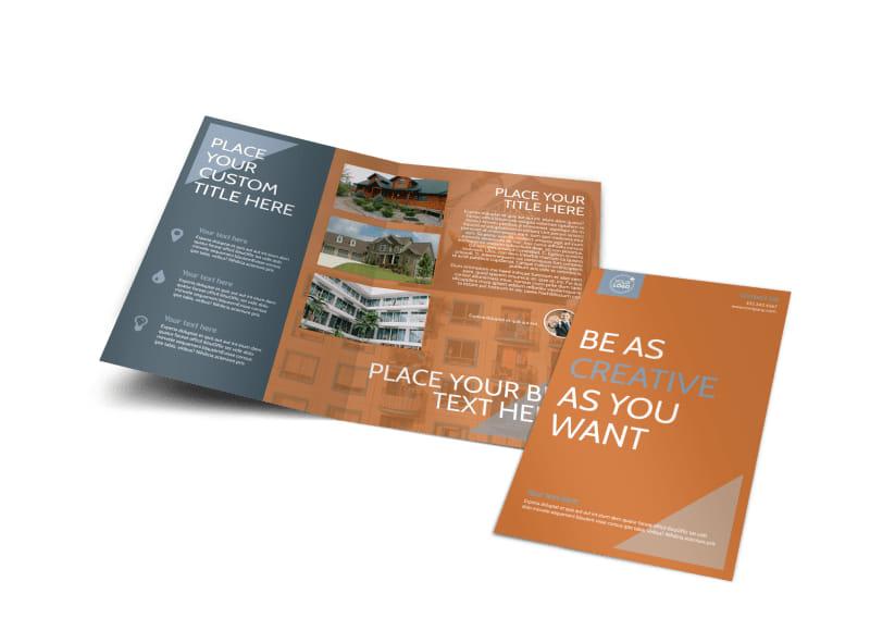 Rental Property Management Bi-Fold Brochure Template