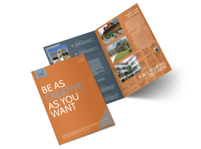 Rental Property Management Bi-Fold Brochure Template preview
