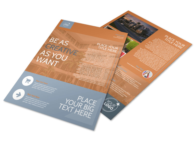 Rental Property Management Brochure Template Mycreativeshop