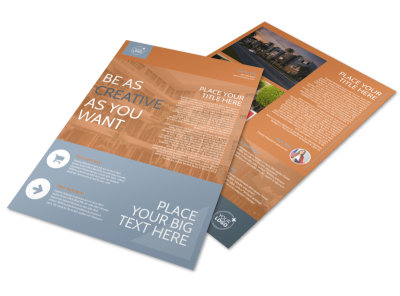 Rental Property Management Flyer Template preview