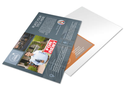 Rental Property Management Postcard Template preview
