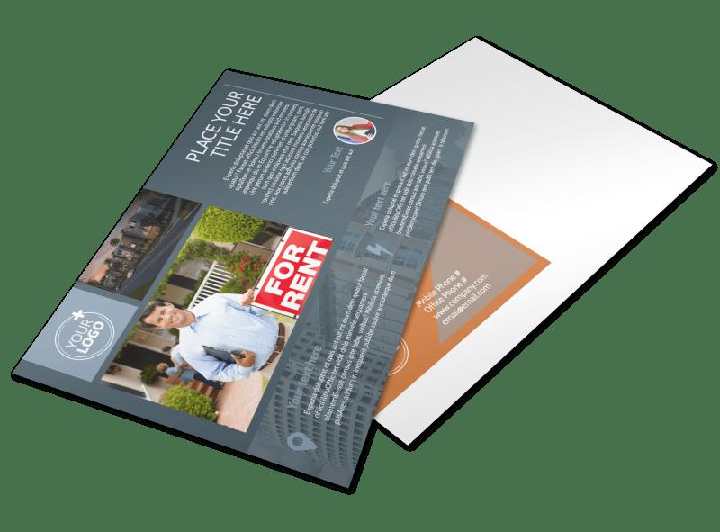 rental property management postcard template