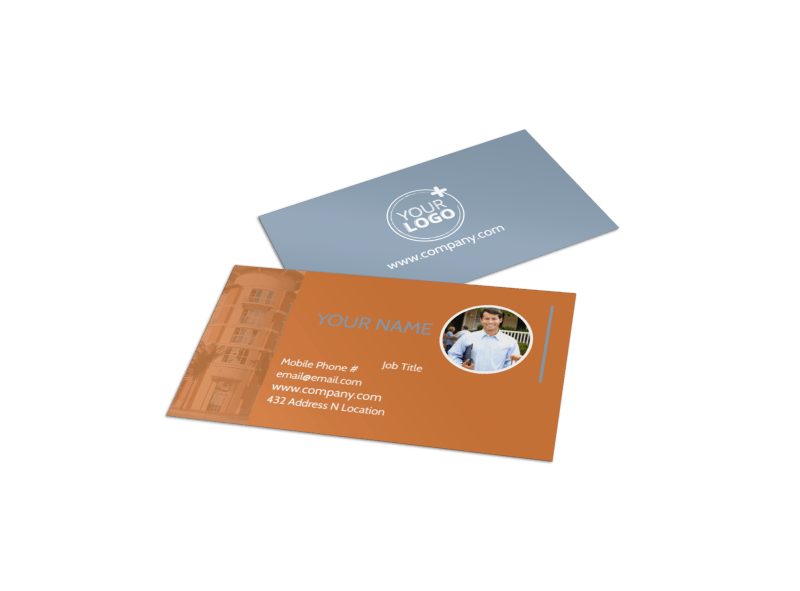 Rental Property Management Business Card Template Preview 1