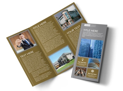 Commercial Property Management Tri-Fold Brochure Template preview