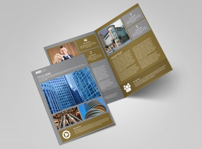 Commercial Property Management Bi-Fold Brochure Template preview