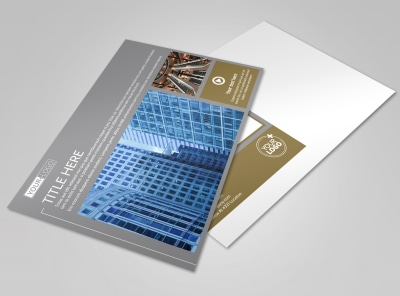 Commercial Property Management Postcard Template preview