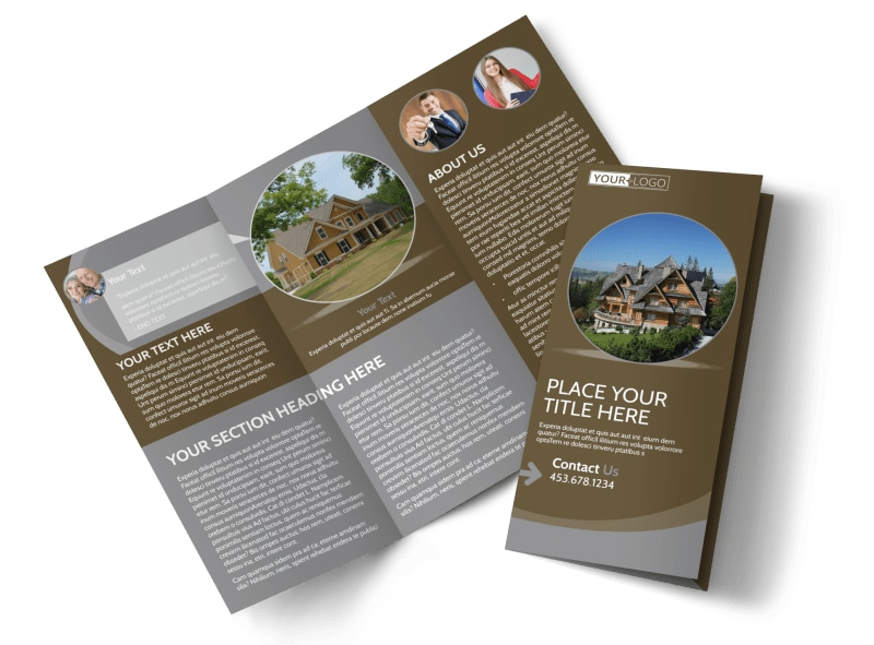Premier Real Estate Tri-Fold Brochure Template