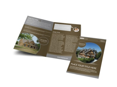 Premier Real Estate Bi-Fold Brochure Template
