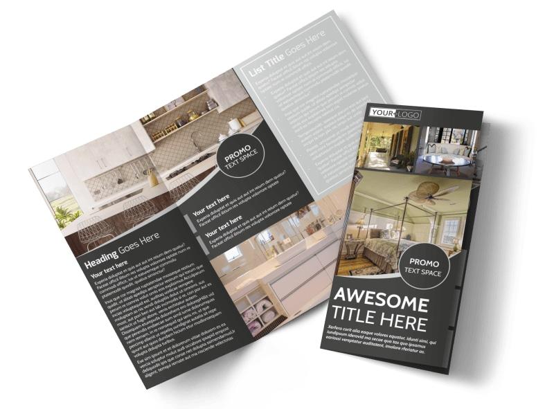 Elegant Villa Rental Tri-Fold Brochure Template
