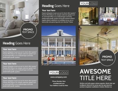 Elegant Villa Rental Brochure Template Preview 1