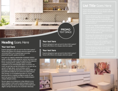Elegant Villa Rental Brochure Template Preview 2
