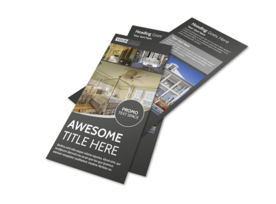 Elegant Villa Rental Flyer Template preview