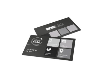 Elegant Villa Rental Business Card Template preview