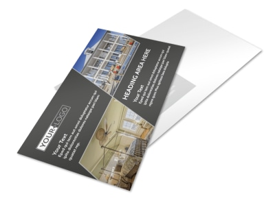 Elegant Villa Rental Postcard Template