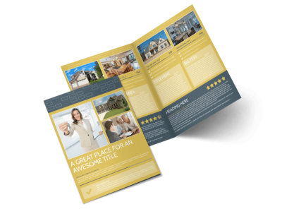 Real Estate Team Bi-Fold Brochure Template