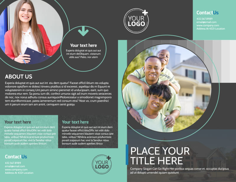 Licensed Real Estate Agents Brochure Template Preview 2
