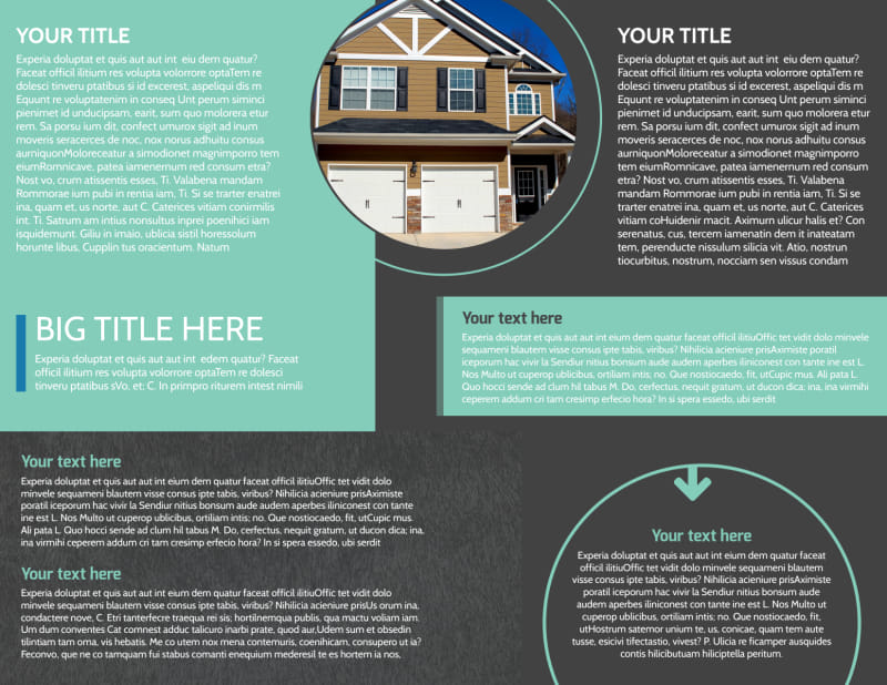 Licensed Real Estate Agents Brochure Template Preview 3