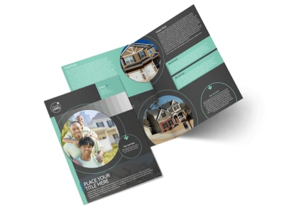 Licensed Real Estate Agents Bi-Fold Brochure Template preview