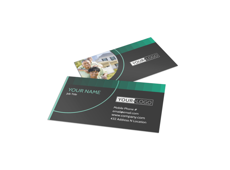 Licensed Real Estate Agents Business Card Template Preview 1