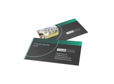 Licensed Real Estate Agents Business Card Template preview