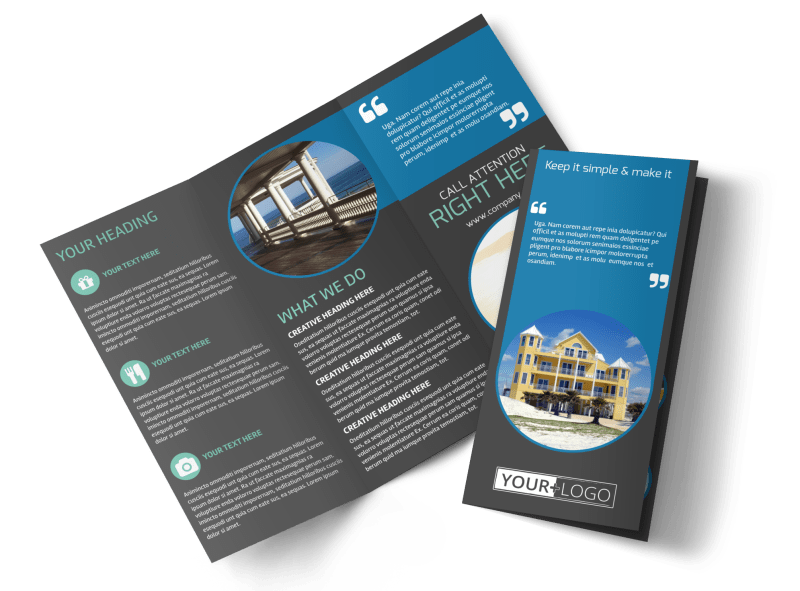 Vacation Rentals Brochure Template Preview 1