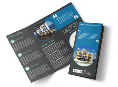 Vacation Rentals Tri-Fold Brochure Template