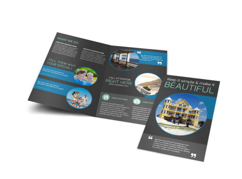 Vacation Rentals Brochure Template Preview 4