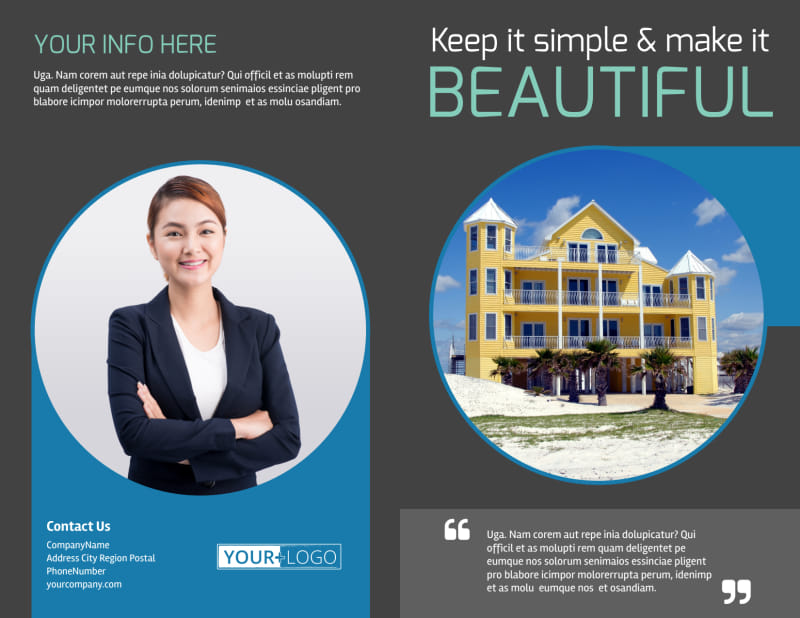 Vacation Rentals Brochure Template Preview 2