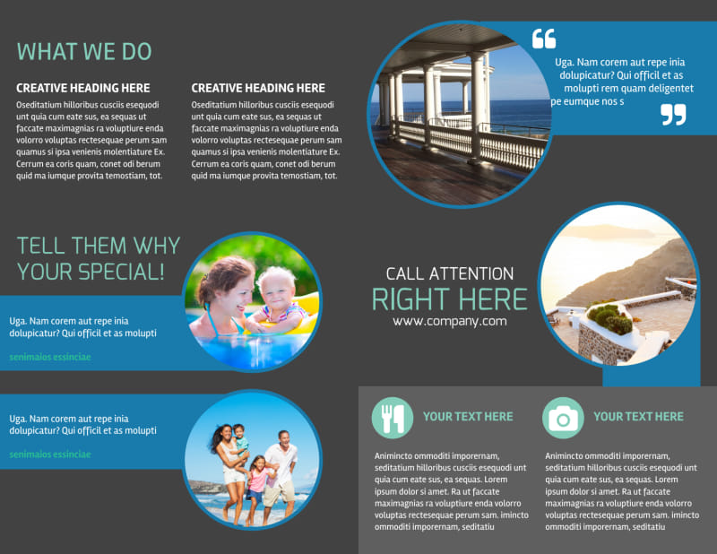 Vacation Rentals Brochure Template Preview 3